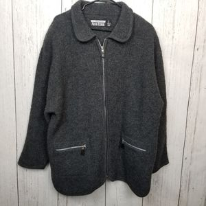 J. Percy for Marvin Richards wool zip up jacket L